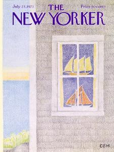The New Yorker Cover - July 23, 1973 by Charles E. Martin