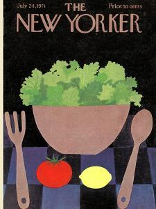 The New Yorker Cover - July 24, 1971 by Charles E. Martin