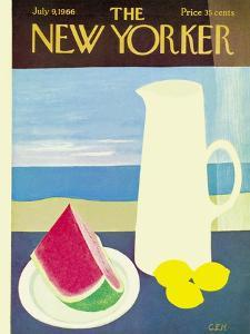 The New Yorker Cover - July 9, 1966 by Charles E. Martin