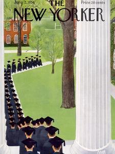 The New Yorker Cover - June 2, 1956 by Charles E. Martin