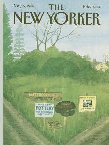 The New Yorker Cover - May 5, 1986 by Charles E. Martin