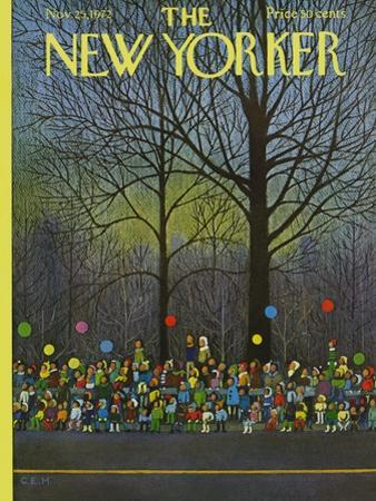 The New Yorker Cover - November 25, 1972 by Charles E. Martin