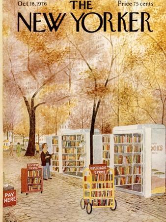 The New Yorker Cover - October 18, 1976 by Charles E. Martin