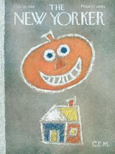The New Yorker Cover - October 26, 1968 by Charles E. Martin