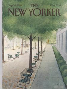 The New Yorker Cover - September 19, 1983 by Charles E. Martin