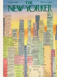 The New Yorker Cover - September 8, 1962 by Charles E. Martin