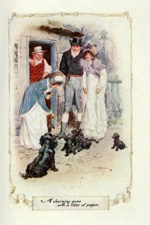 A Charming Game with a Litter of Puppies, 1907