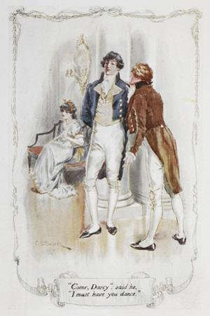 Come Darcy, I Must Have You Dance. Illustration To 'Pride and Prejudice' by Charles Edmund Brock