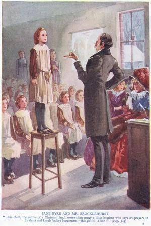 Jayne Eyre and Mr Brocklehurst