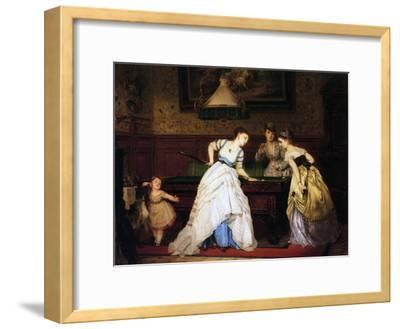 Ladies Playing Billiard, 1869