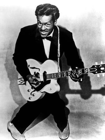 Charles Edward Anderson Berry Aka Chuck Berry (B.1926) Rock and Roll Guitarist Here C. 1955