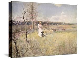 Springtime, 1888 by Charles Edward Conder