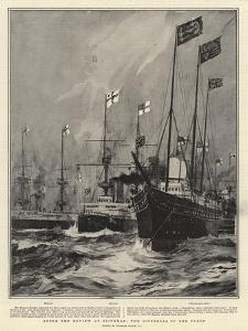 After the Review at Spithead, the Dispersal of the Fleet by Charles Edward Dixon