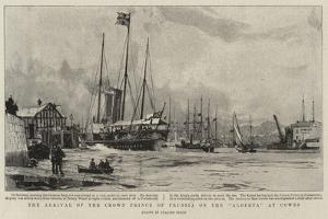 The Arrival of the Crown Prince of Prussia on the Alberta at Cowes by Charles Edward Dixon