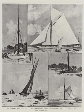 The Coming Contest for the America Cup, Columbia on Her Trial Trip