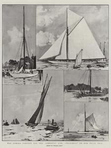 The Coming Contest for the America Cup, Columbia on Her Trial Trip by Charles Edward Dixon