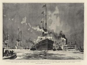 The Coming Race for the America Cup, the Arrival of Sir Thomas Lipton at New York by Charles Edward Dixon