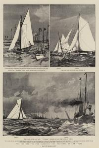 The Contest for the America Cup, Sketches at the Races by Charles Edward Dixon