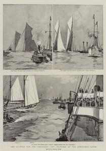The Contest for the Amreica'S Cup, Sketches at the Undecided Races by Charles Edward Dixon