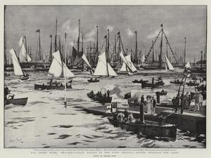 The Cowes Week, Two-And-A-Half Raters in the Town Regatta Racing Through the Fleet by Charles Edward Dixon