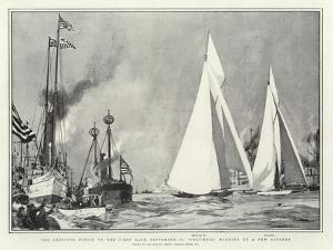 The Exciting Finish to the First Race, 28 September, Columbia Winning by a Few Seconds by Charles Edward Dixon
