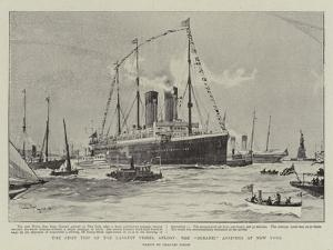 The First Trip of the Largest Vessel Afloat, the Oceanic Arriving at New York by Charles Edward Dixon