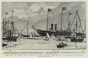 The King at Cowes, the Arrival of the Victoria and Albert on Tuesday Afternoon by Charles Edward Dixon
