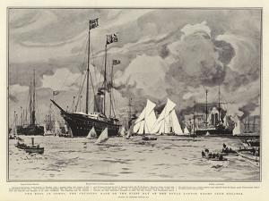 The King at Cowes, the Cruisers' Race on the First Day of the Royal London Yacht Club Regatta by Charles Edward Dixon