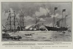 The King's Yachting Holiday, the Victoria and Albert Leaving Portsmouth by Charles Edward Dixon
