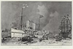 The Return of the Duke and Duchess of Cornwall and York, Arrival of the Ophir in Portsmouth Harbour by Charles Edward Dixon