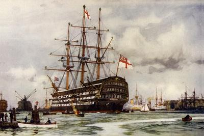 "The ""Victory"" at Portsmouth, Came into Harbour from Last Commission Nov, 1812"