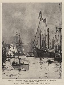 The Yachting Season at Cowes by Charles Edward Dixon