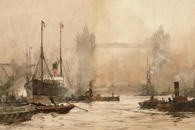 Tower Bridge from Cherry Garden Pier, c.1900