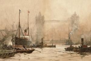 Tower Bridge from Cherry Garden Pier, c.1900 by Charles Edward Dixon