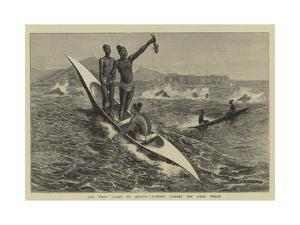 The West Coast of Africa, Fishing Canoes Off Cape Verde by Charles Edwin Fripp