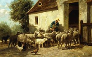 Returning Home by Charles Emile Jacque