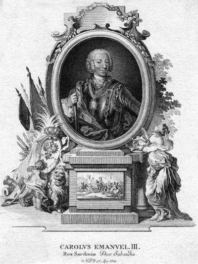 Charles Emmanuel III of Sardinia, Duke of Savoy and King of Sardinia, (1701-177)--Giclee Print