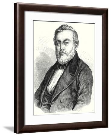 Charles Etzel Creator of the Railways of Wurtemberg--Framed Giclee Print