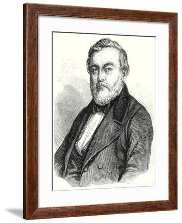 Charles Etzel Creator of the Railways of Wurtemberg--Framed Giclee Print