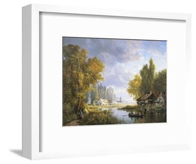 A River Scene in France