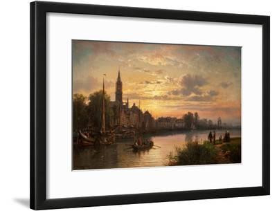 Dutch Sunset Scene, 1873