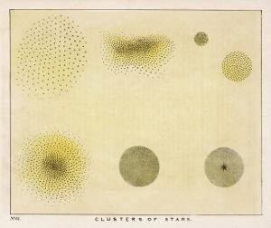 Diagram Showing Various Clusters of Stars by Charles F^ Bunt