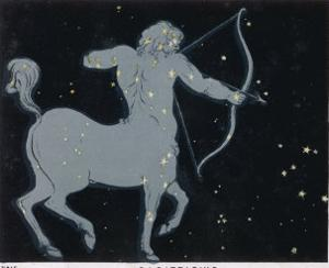 The Constellation of Sagittarius Half Man and Half Horse with a Bow and Arrow by Charles F. Bunt