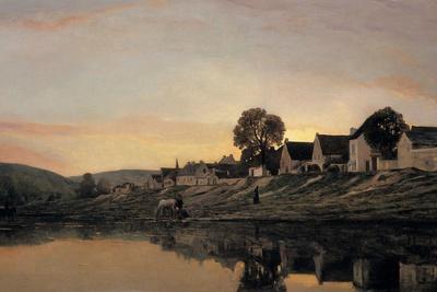 A Village Near Bonnieres, 1861