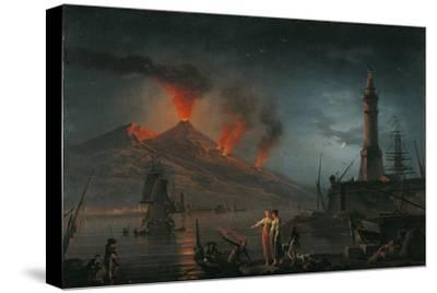 Eruption of Vesuvius by Charles Francois Lacroix De Marseille, 18th C. by Charles Francois Lacroix de Marseille