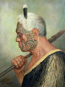 A Maori Warrior by Charles Frederick Goldie