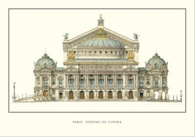 Paris, Theatre de l'Opera, Paris by Charles Garnier