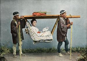 La Kago, Transport of Japan, C1890 by Charles Gillot