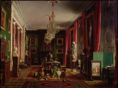 Interior of the Office of Alfred Emilien Count of Nieuwerkerke