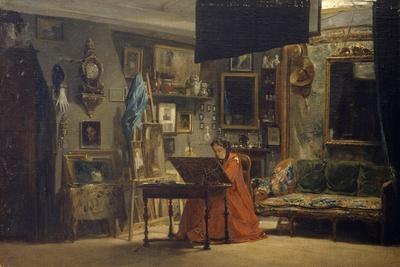 Princess Mathilde in Her Art Studio